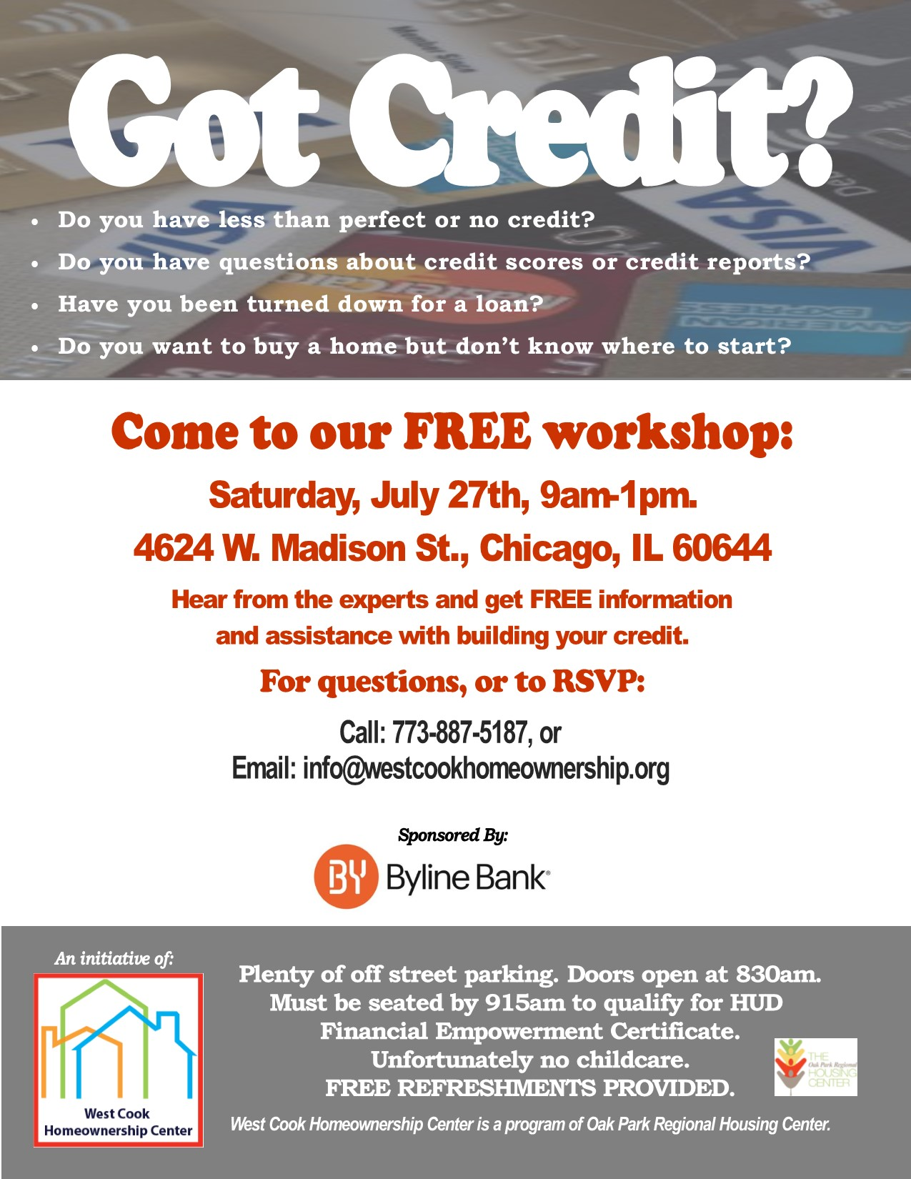 Learn How to Build Your Credit | West Cook Homeownership Center
